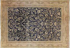 tree of 9 x 12 vintage evenly worn knotted wool rug