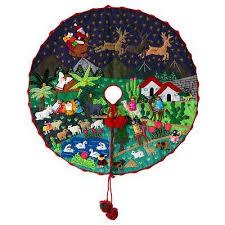 christmas skirt peruvian folk cotton christmas tree skirt nativity