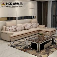 Corner Sofa In Living Room - new model l shaped modern italy genuine real leather sectional