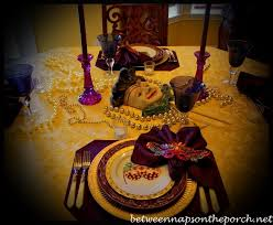 mardi gras table decorations gras table setting and decorations