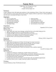 Resume Sample For Housekeeping by Cosmetology Resume Examples Cosmetologist Resume Examples