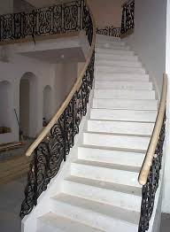Iron Handrails For Stairs Working Metal Blacksmith Foundry Ironwork Sculpture Casting Custom