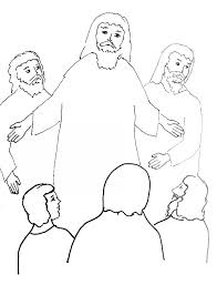 bible story coloring transfiguration jesus free