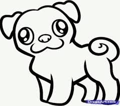 Pug Pictures To Color Two Beautiful Pug Coloring Page Color Luna Small Coloring Pages