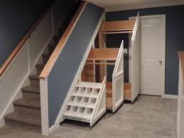 under stairs cabinet ideas interior exciting storage clever closet white oak wood tiled floor