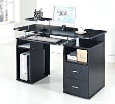 Glass Top Computer Desks For Home Sublime Glass Top Computer Desk For House Design With Keyboard