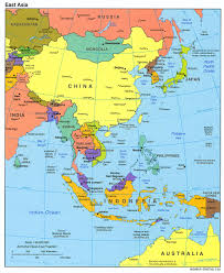 map of asai east asia political map 2004 size
