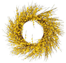 forsythia wreath august grove faux forsythia wreath reviews wayfair