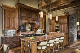 kitchen rustic kitchen gray exposed beam one wall breakfast nook