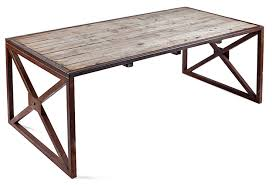 Reclaimed Wood Desk Industrial Reclaimed Wood Table Or Desk Italy Omero Home