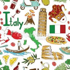 sketch italy seamless pattern vector art thinkstock