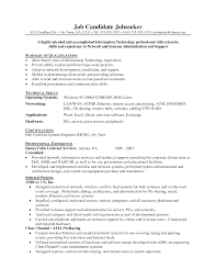 Sample Resume Objectives For Merchandiser by Attractive Network Administrator Resume For Inspire You Vntask Com
