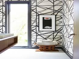 Simplified Bee by Bathroom Black White Wallpaper Kelly Wearstler Simplified Bee Ideas