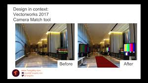 design in context with vectorworks 2017 camera match tool youtube