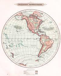World Globe Map World Globe Maps Circa 1881 By Harper U0027s