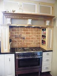 interior simple brick red kitchen cabinets on kitchen design