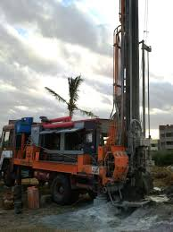 file rig drilling known locally as borewell for water well
