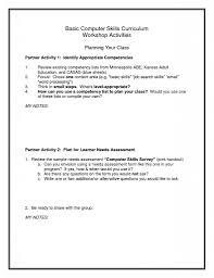 Resume Samples Basic by Basic Computer Skills Resume Sample Free Resume Example And