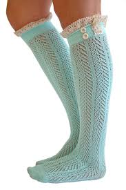 womens size 12 boot socks the original button boot socks with lace trim boutique socks by