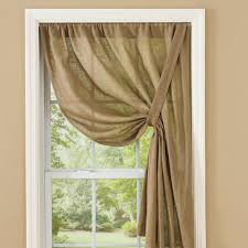 country curtains courtland taupe tie up panel 63