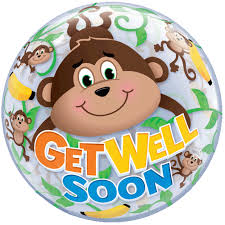 get well soon and balloons 22 get well soon monkey balloon