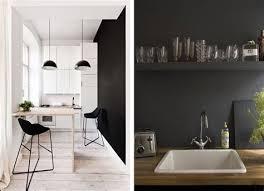 cuisine sur un pan de mur cuisine sur un pan de mur 2 du noir sur les murs blueberry home
