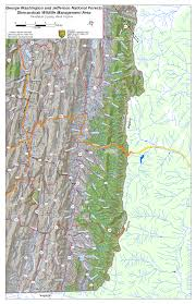 George Washington National Forest Map by West Virginia Dnr Wma Map Project