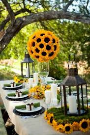 sunflower centerpieces sunflower centerpieces tablescapes table settings