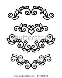 vector illustration east outline flower ornament stock vector