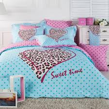 Brown And Blue Bed Sets Light Blue Pink And Brown Leopard Cheetah And Polka Dot Print