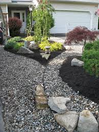 small front garden design with gravel post landscape ideas for