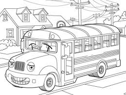 detailed bus coloring page for older children