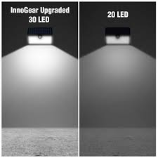 Solar Security Motion Sensor Light by Innogear Solar Lights 30 Led Wall Light Outdoor Security Lighting