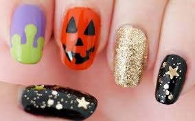 halloween nails freehand youtube