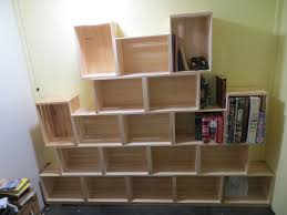 wooden crate wall shelves how to convert nineteen walmart wooden crates into an entire
