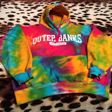 obx outer banks nc tie dye hooded sweatshirt outer banks nc