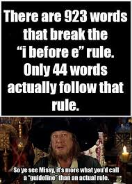 Bad Spelling Meme - language is the i before e english spelling rule wrong more