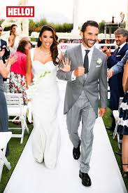 hello wedding dress exclusive hello goes inside longoria and pepe baston s