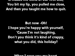 all time low merry my lyrics on screen in