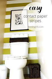 decorating a small bathroom easy wall stripes