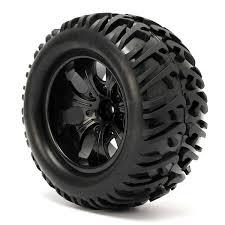 rc bigfoot monster truck 4pcs wheel rim u0026 tires hsp 1 10 monster truck rc car 12mm hub