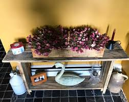 rustic entry table etsy