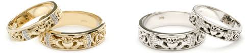 claddagh wedding ring sets wedding rings for and celtic rings ltd