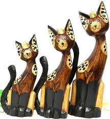 wooden cat cat wood carvings from bali indonesia wooden cats from bali by