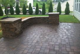 Patio Wall Lighting Paver Patio Sitting Wall And Landscape Lighting Nc