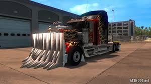 wooden kenworth truck mad max bumper for kenworth w900 ats mods