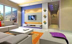 Modern Wall Designs For Living Room Yellow Wall Designs For