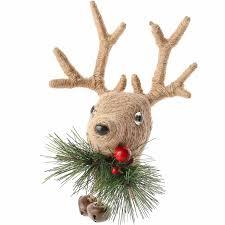 reindeer ornaments rustic jute reindeer ornament christmas ornaments christmas