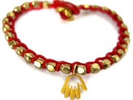 gold lucky charm bracelet images I love you red string good luck hamsa hand charm bracelet 24k jpg