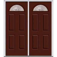 Home Depot Doors Exterior Steel Mmi Door 60 In X 80 In Heirloom Master Right Fan Lite 4